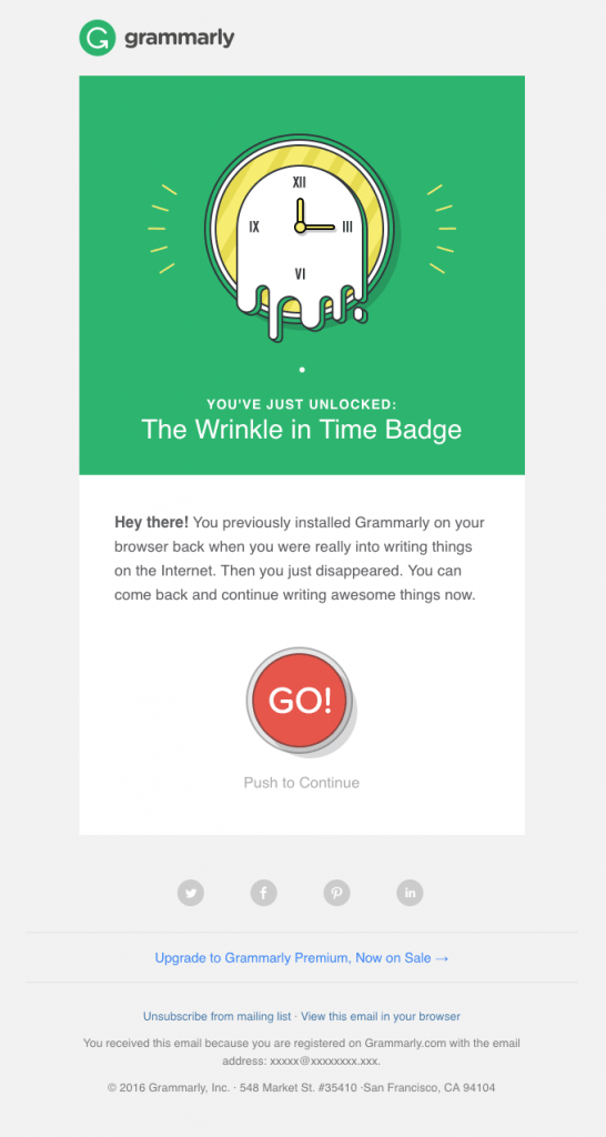 Grammarly re-engagement