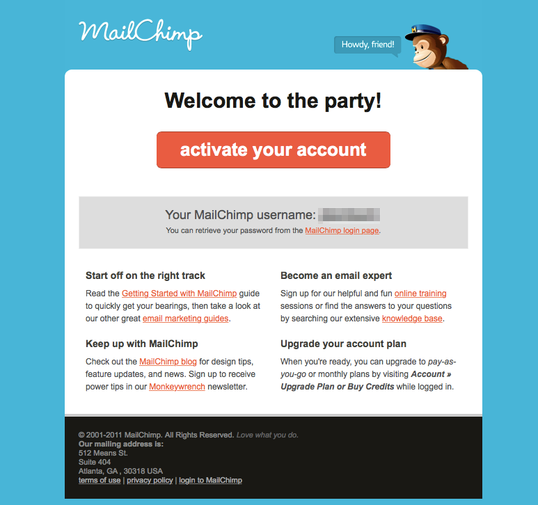 confirmation-email-mailchimp