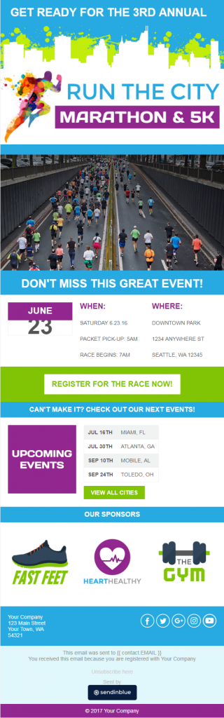 event newsletter