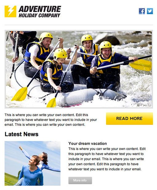 ActiveCampaign Email template example