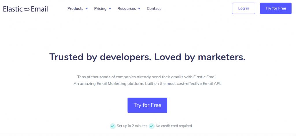 elastic email website