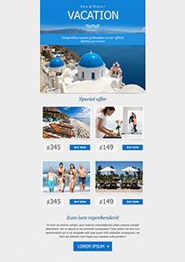 getresponse travel email template