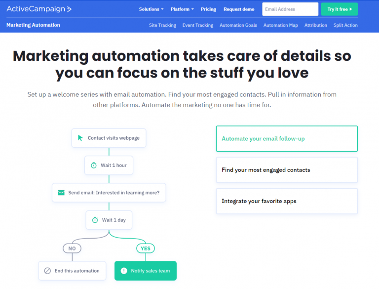 marketing automation active campaign