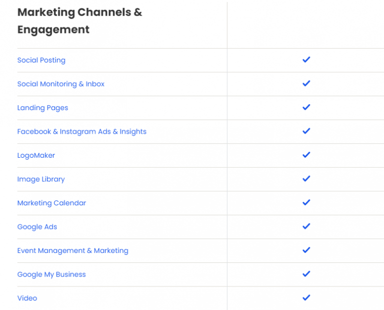 constant contact marketing channel features for email plan